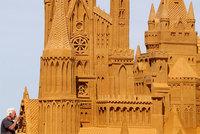 Невероятные скульптуры с бельгийского фестиваля песка