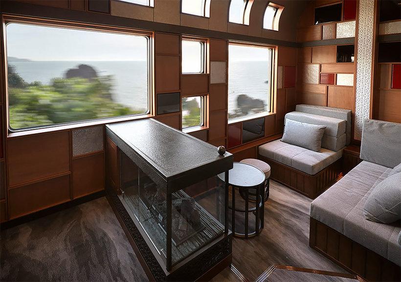 Как выглядит внутри новый невероятный японский люкс-поезд