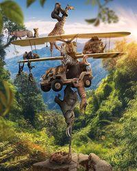 Диджитал-художник превращает изображения природы в портреты животных