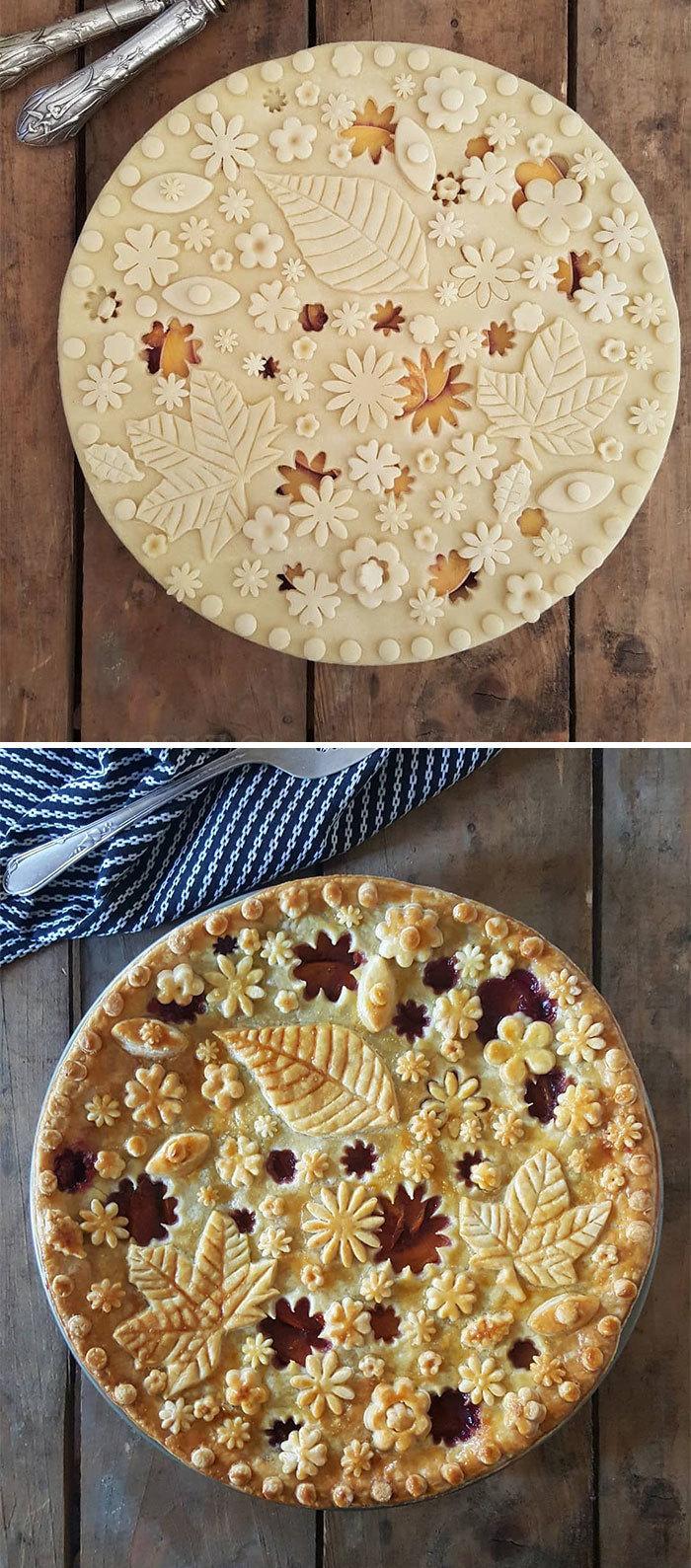 Немецкий пекарь делает пироги, которые слишком великолепны, чтобы их есть