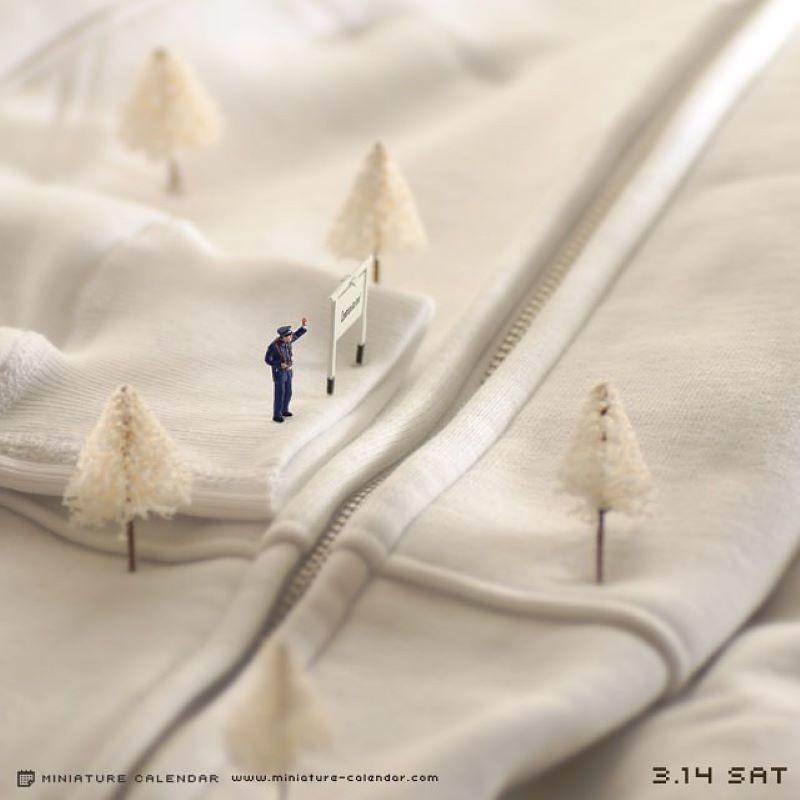 Танака Тацуя создает очаровательный микромир из обычных предметов и фигурок людей