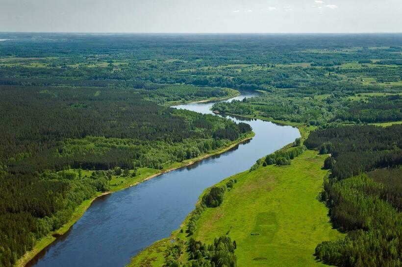 Западная Двина в Латвии