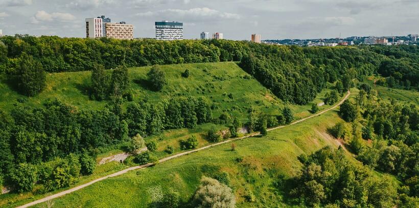 Зеленая часть Приокского района