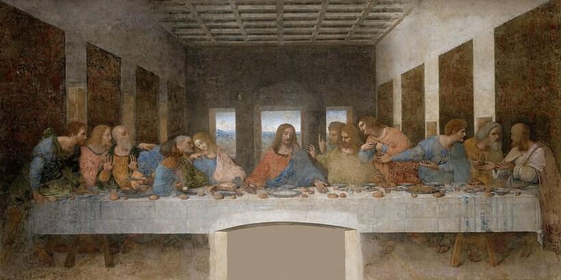 «Тайная вечеря», 1495-1498 гг. Леонардо да Винчи