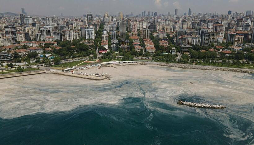 Берег Стамбула выглядит так уже несколько недель