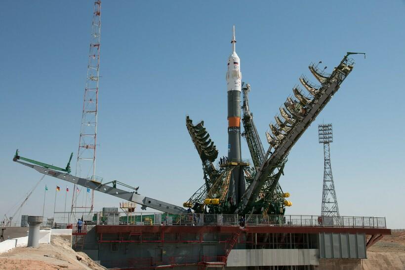 Процесс запуска одной из ракет. Фото: Samantha Cristoforetti/flickr.com
