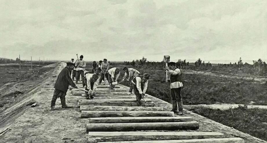 Фото дня: начало строительства Транссибирской магистрали