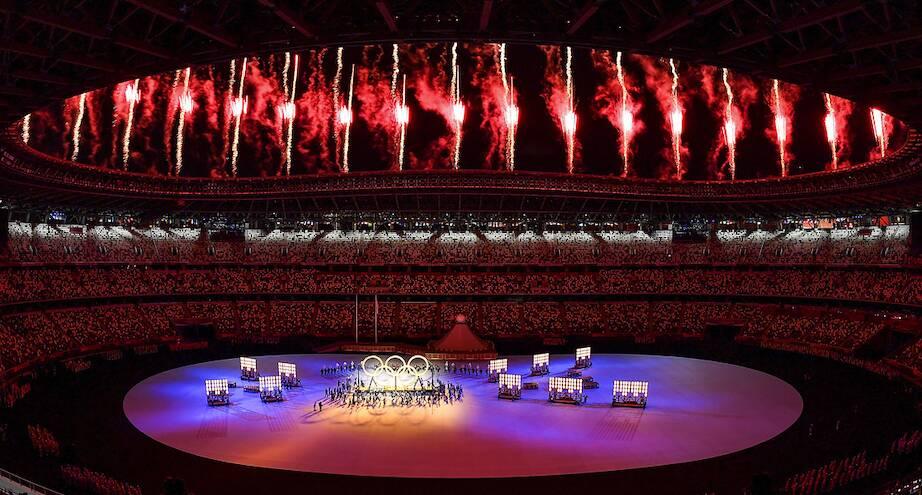 Фото дня: открытие Олимпийских игр в Токио